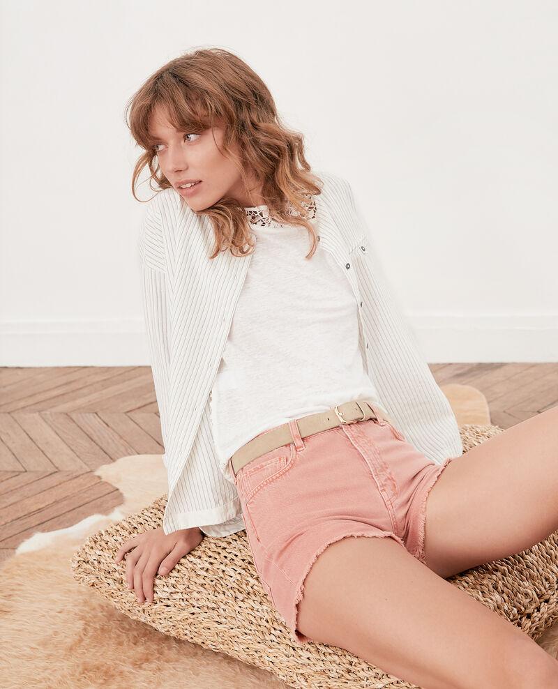 Fringed shorts FADED ROSE