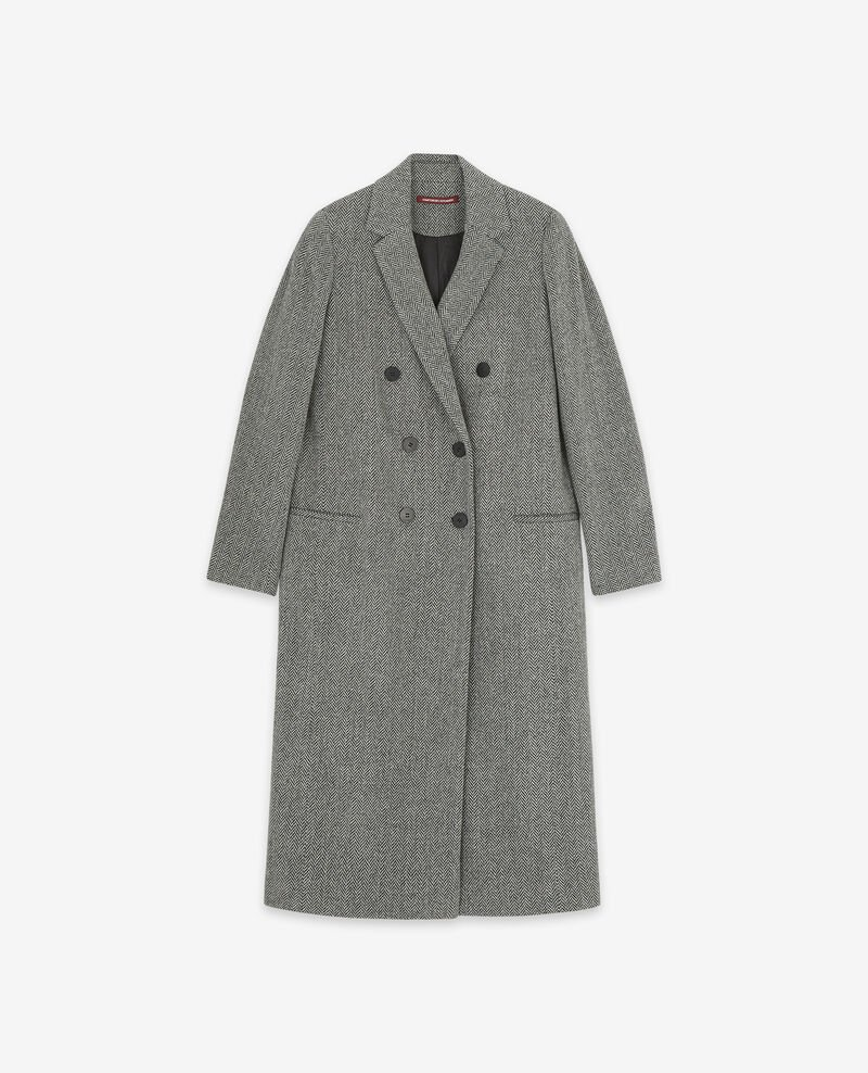 Wool blend tweed coat Medium heather grey Dalacet