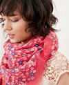 Printed scarf Honolulu ultra pink Fhono