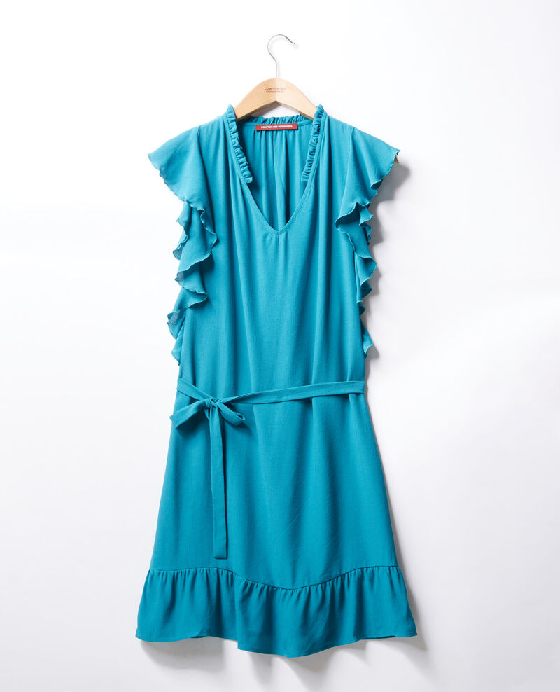 Frilly dress Pacific green Fretiller
