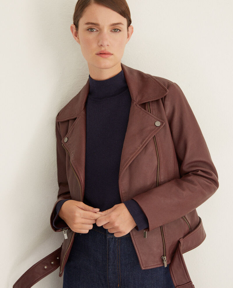 Timeless leather jacket  DECADENTE CHOCOLATE