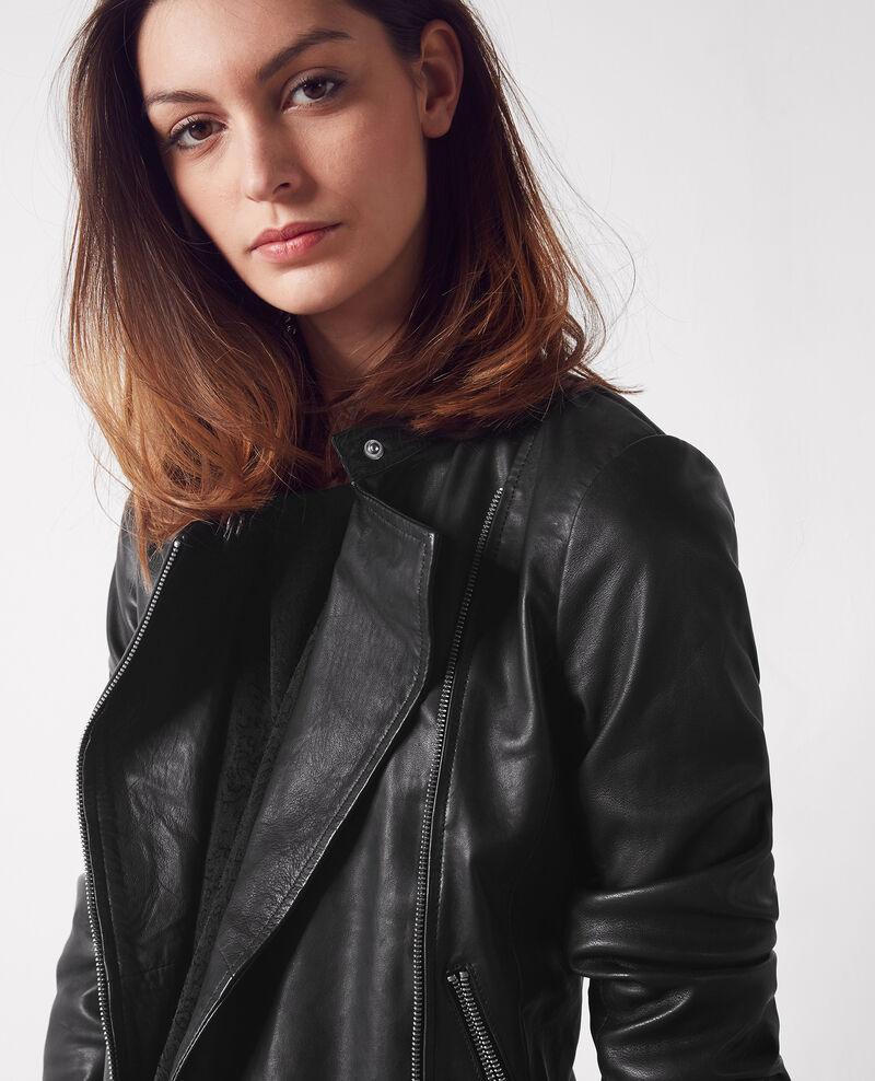 Leather jacket Noir Chat