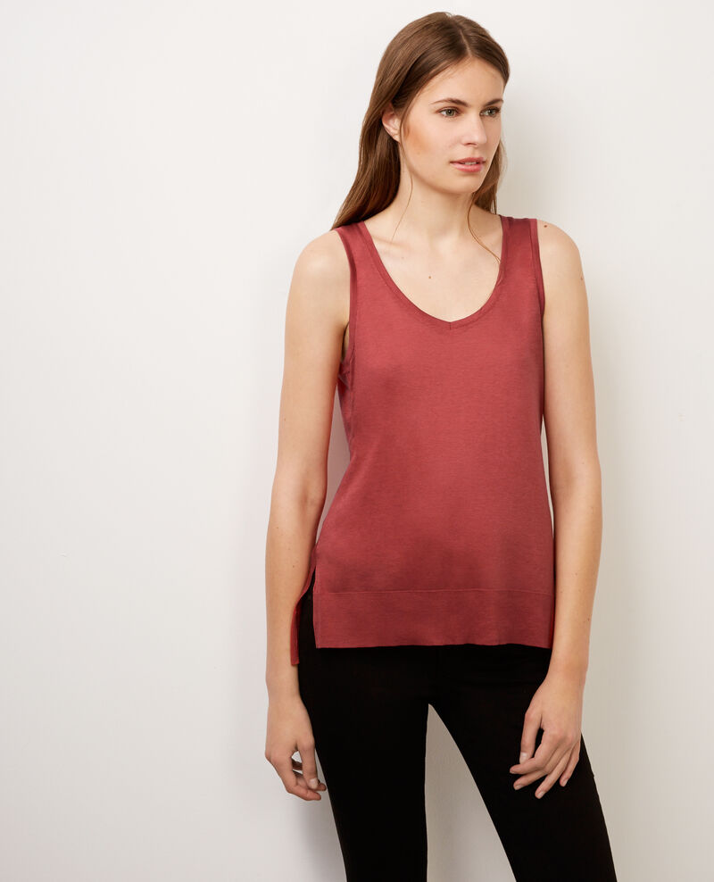 """My second skin by Comptoir"" tank top Brick Balbora"