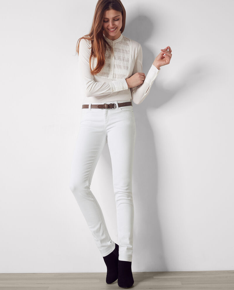 Ma demoiselle slim-fit jeans Off white Cibou