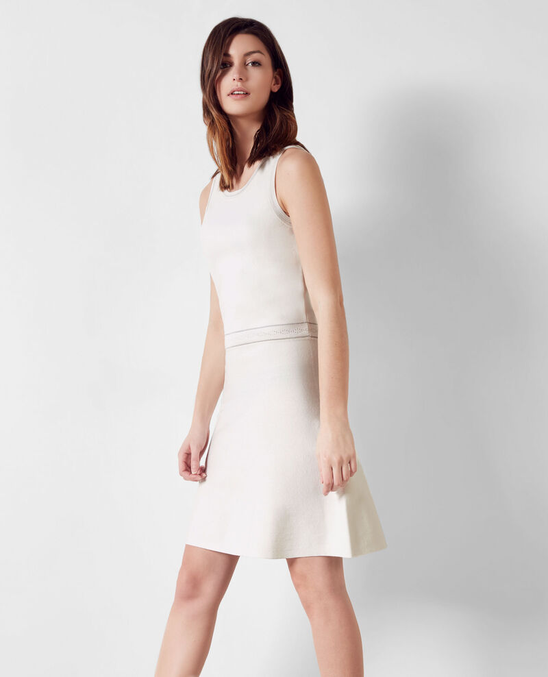 Fine-knit dress with sparkly details Off white - Chandelle ...