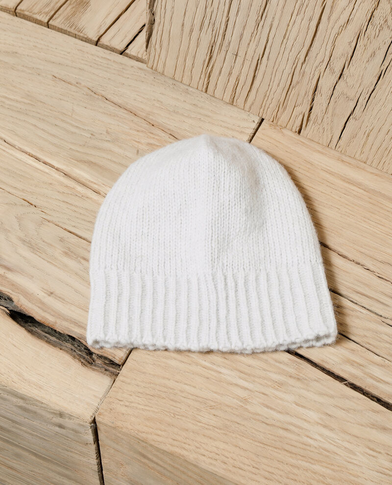 Knit beanie OFF WHITE
