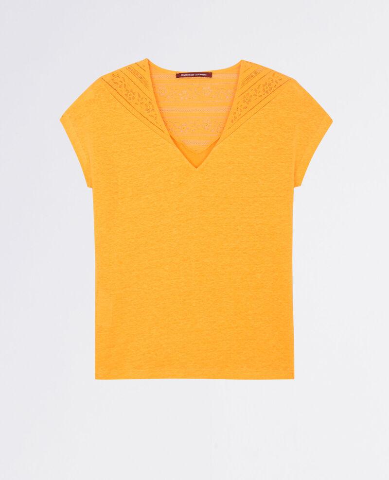 Linen t-shirt with lace insert Crayola Choubidou
