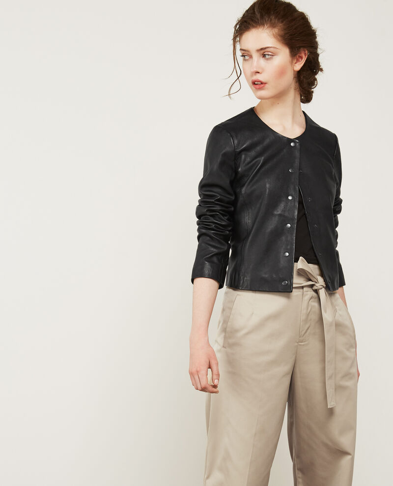 Leather jacket Noir Diantre