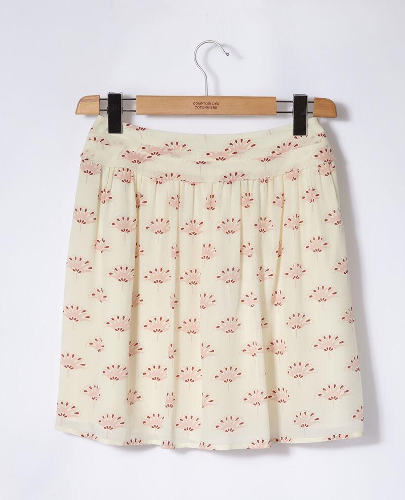Short skirt Lotus fan winter white Gingembre