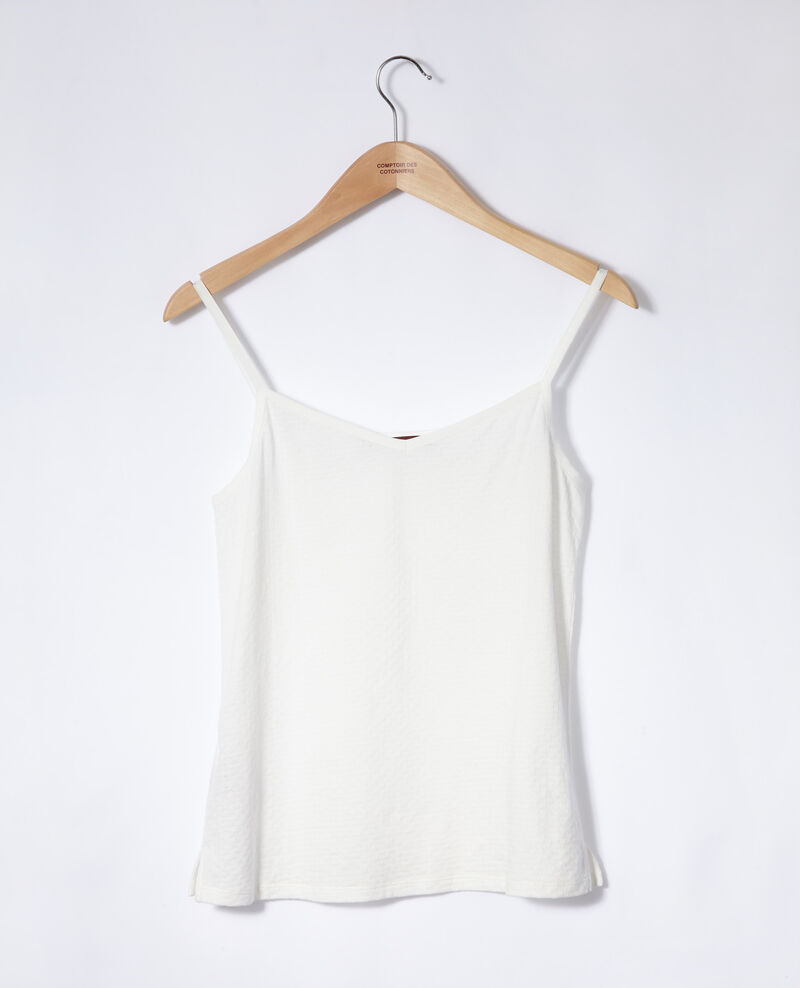 Vest top with spaghetti straps Off white Gagnant