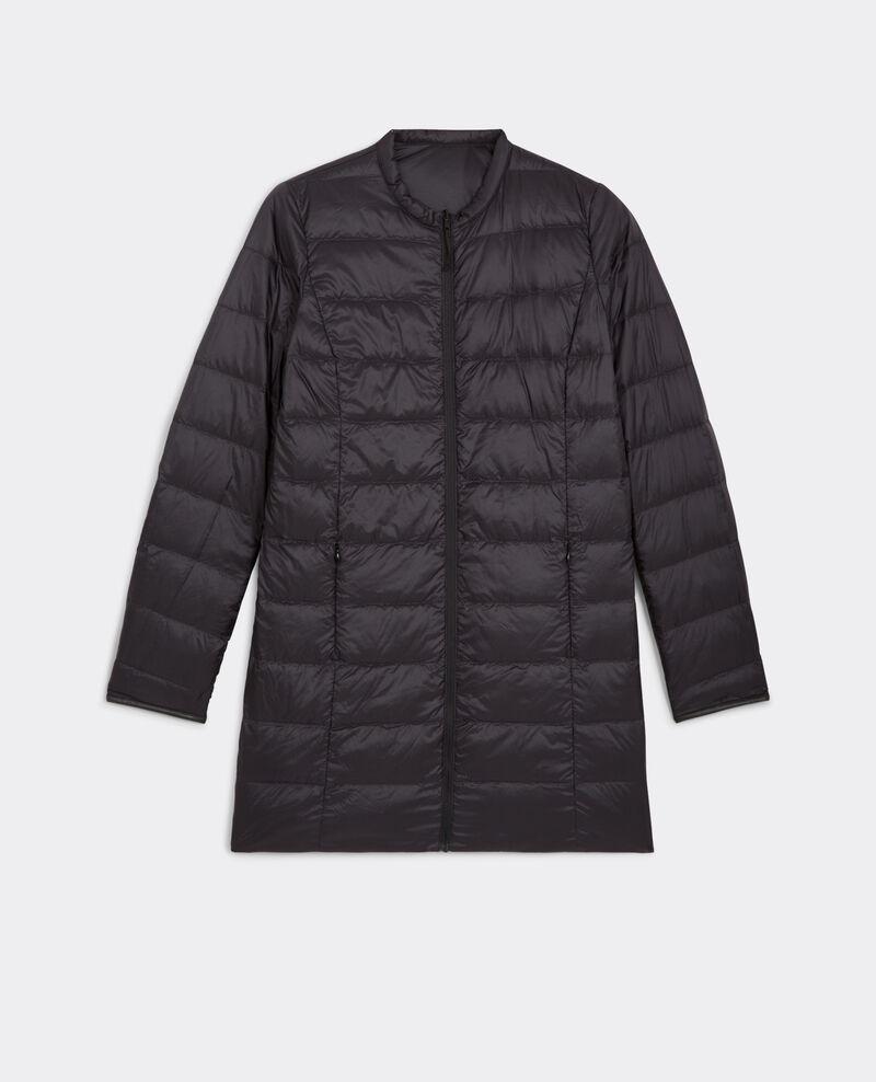 Long reversible down jacket Black/slate Buick