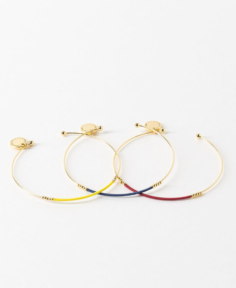 Set of 3 bracelets Ink blue/bouton d'or/raspberry Charade