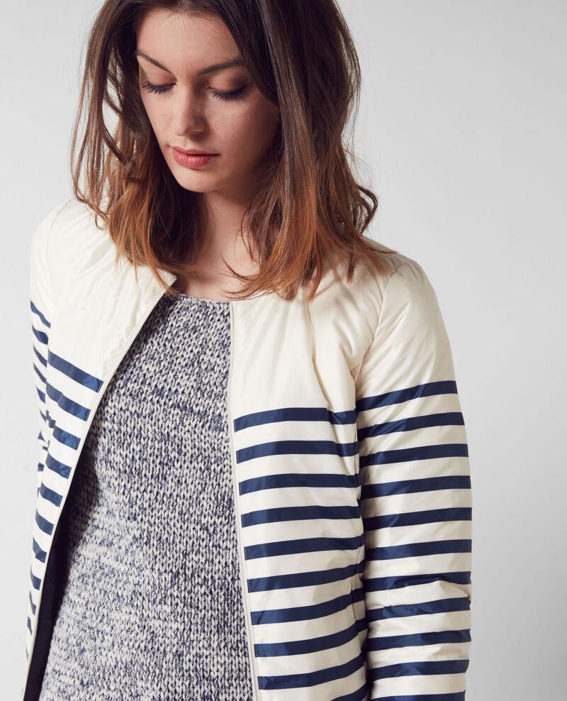 Breton-style pocketable reversible puffer jacket Mariniere Cruise