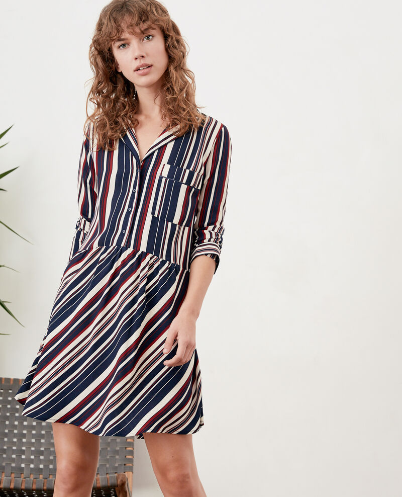 Striped dress Stripes marine/devil Dorothy