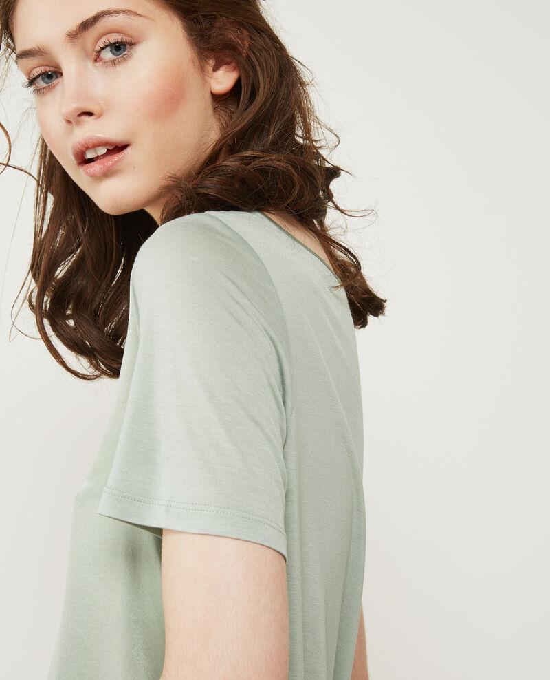 Silk panelled t-shirt Frost Dupalais