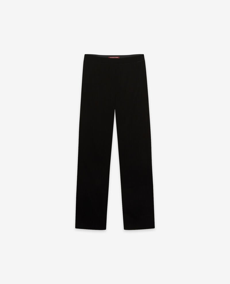 Velour trousers Noir Drimee