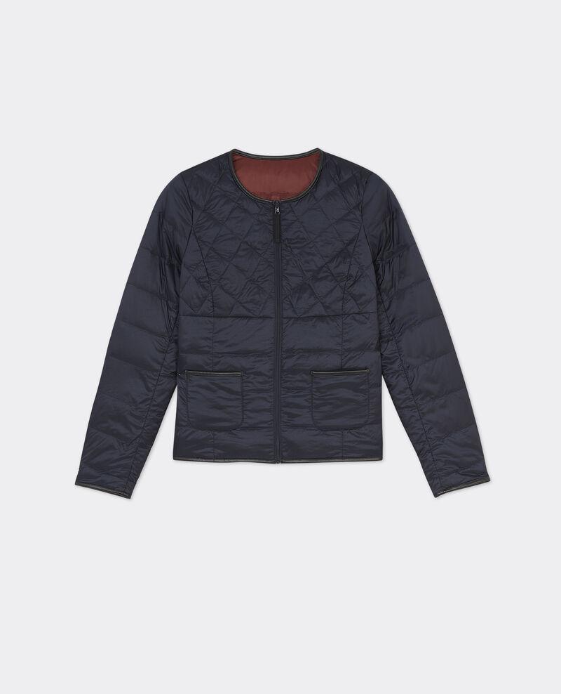 Classic Mademoiselle Plume down jacket Dark ocean/velvet Bidown