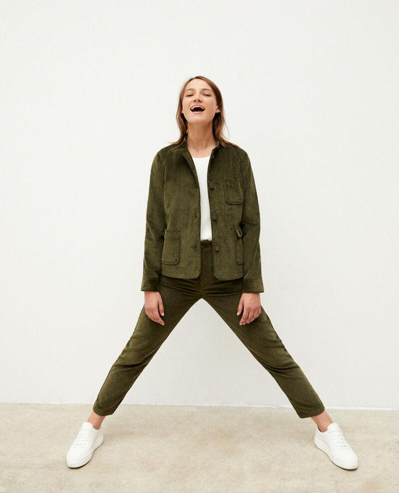 Ribbed corduroy jacket Olive night Goiseau