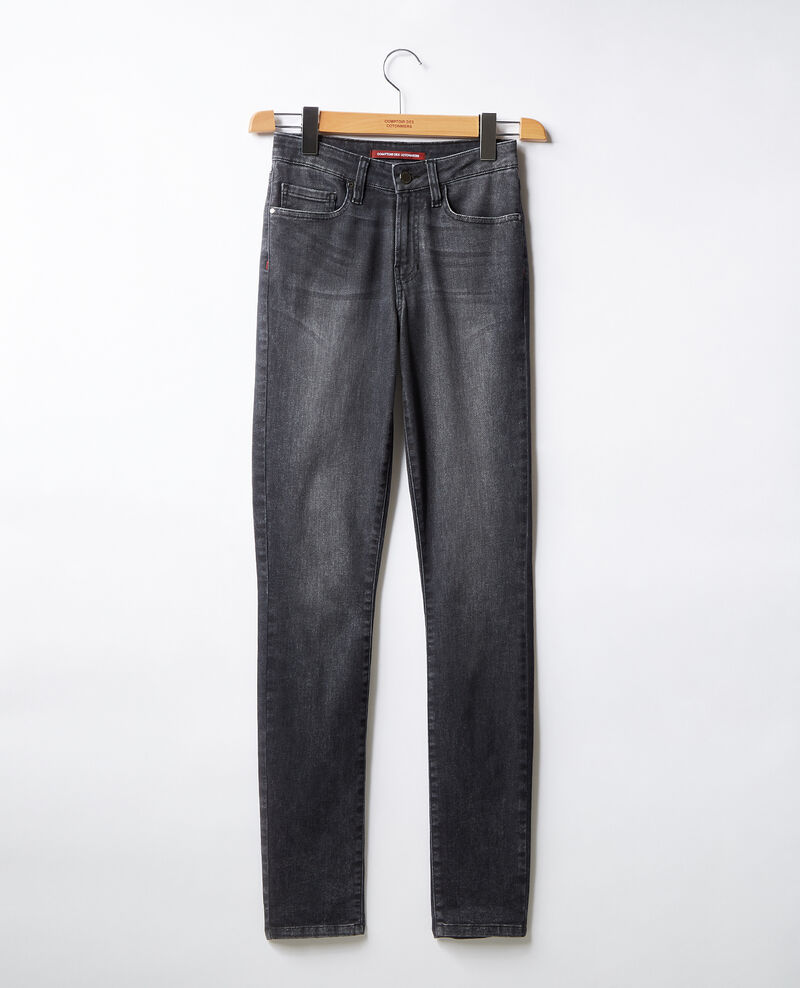 Cigarette jeans Dark grey Figiani