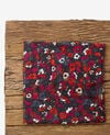 Crinkle-effect printed scarf Poppies black Daccord