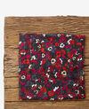 Crinkle-effect printed scarf Poppies black Daccord