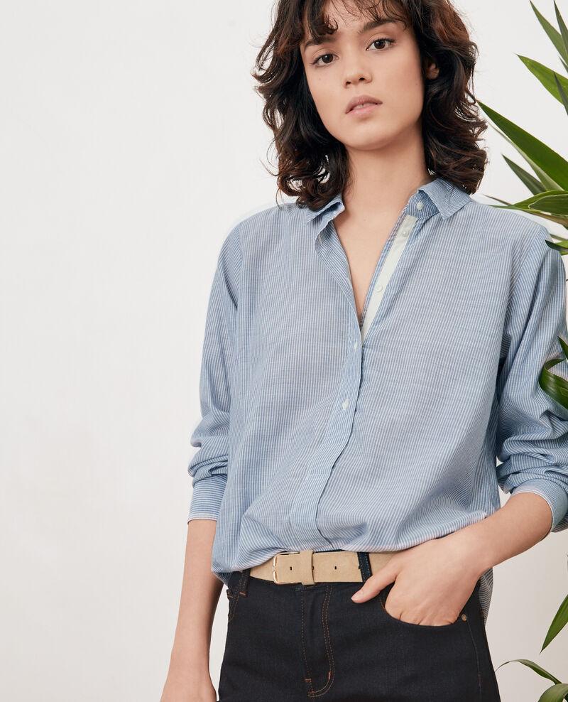 Striped oversize shirt Stone blue stripes Freelance