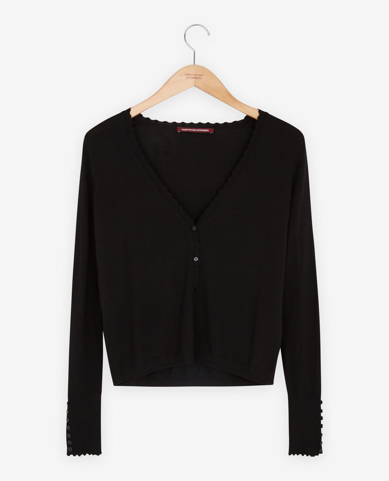Thin wool cardigan Noir Frenesie