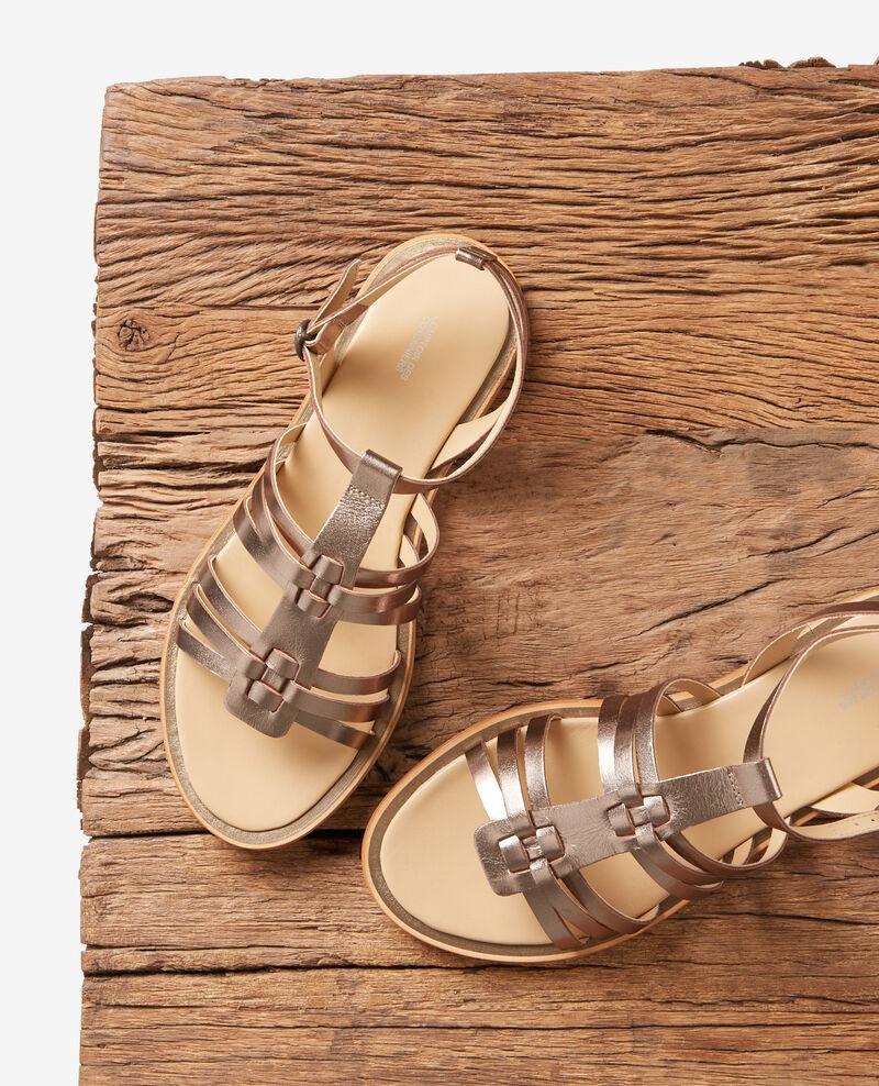 Flat sandals Bronze Fachetier