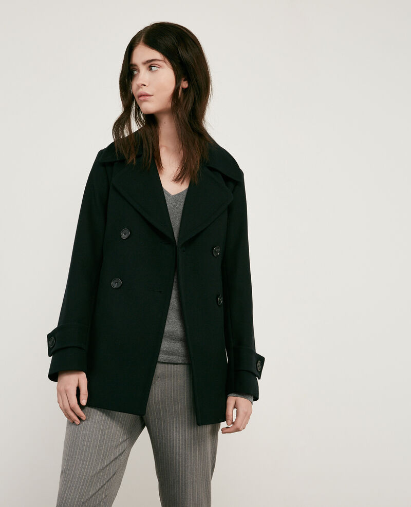 Wool pea coat Noir Darles