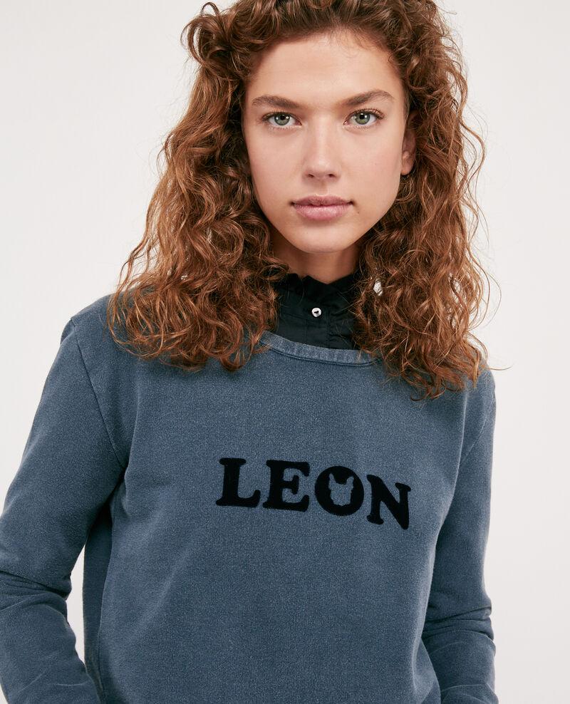 Embroidered Léon sweatshirt Navy Douchoir