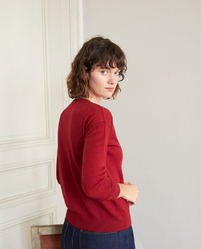 Merino wool jumper Rio red Garago