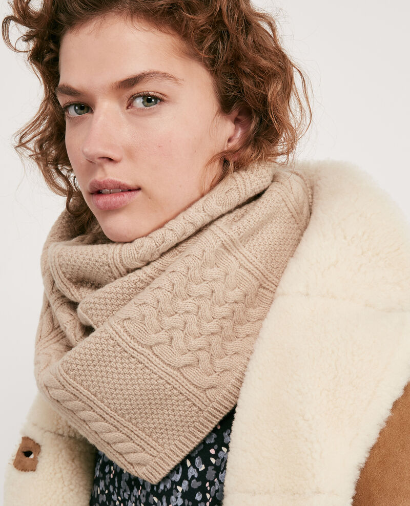100% Wool snood Beige Dozer