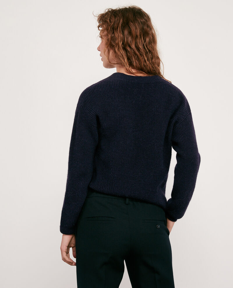 Woll and alpaca jumper Navy Darren