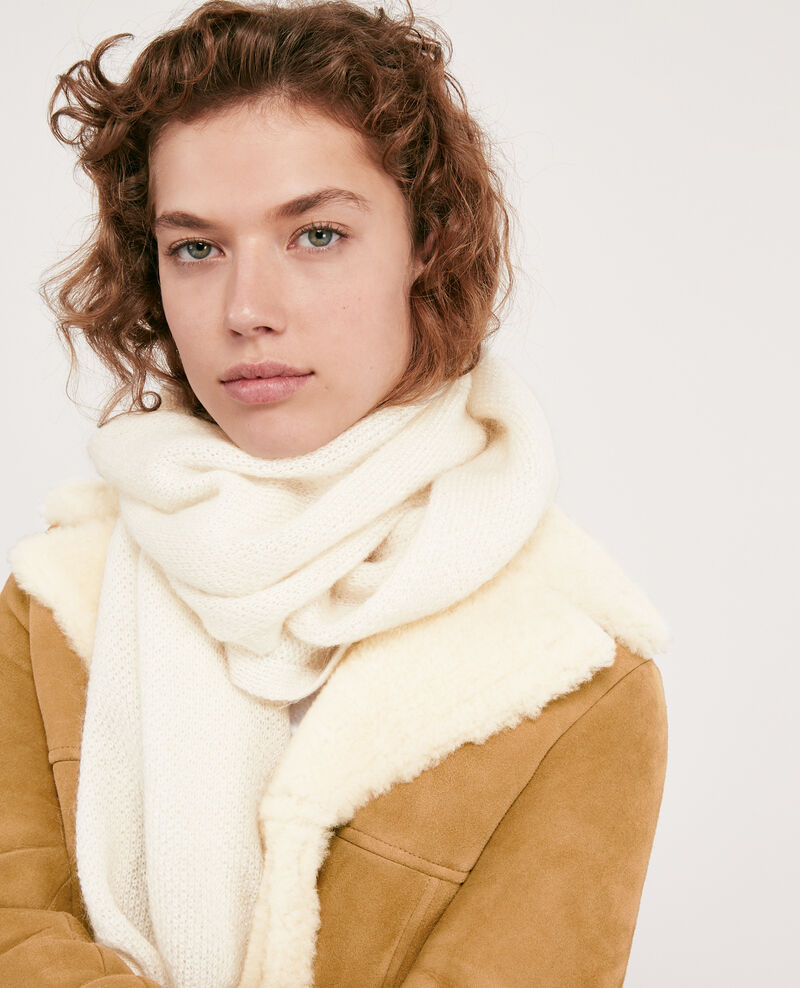 Mohair scarf Off white Djalie