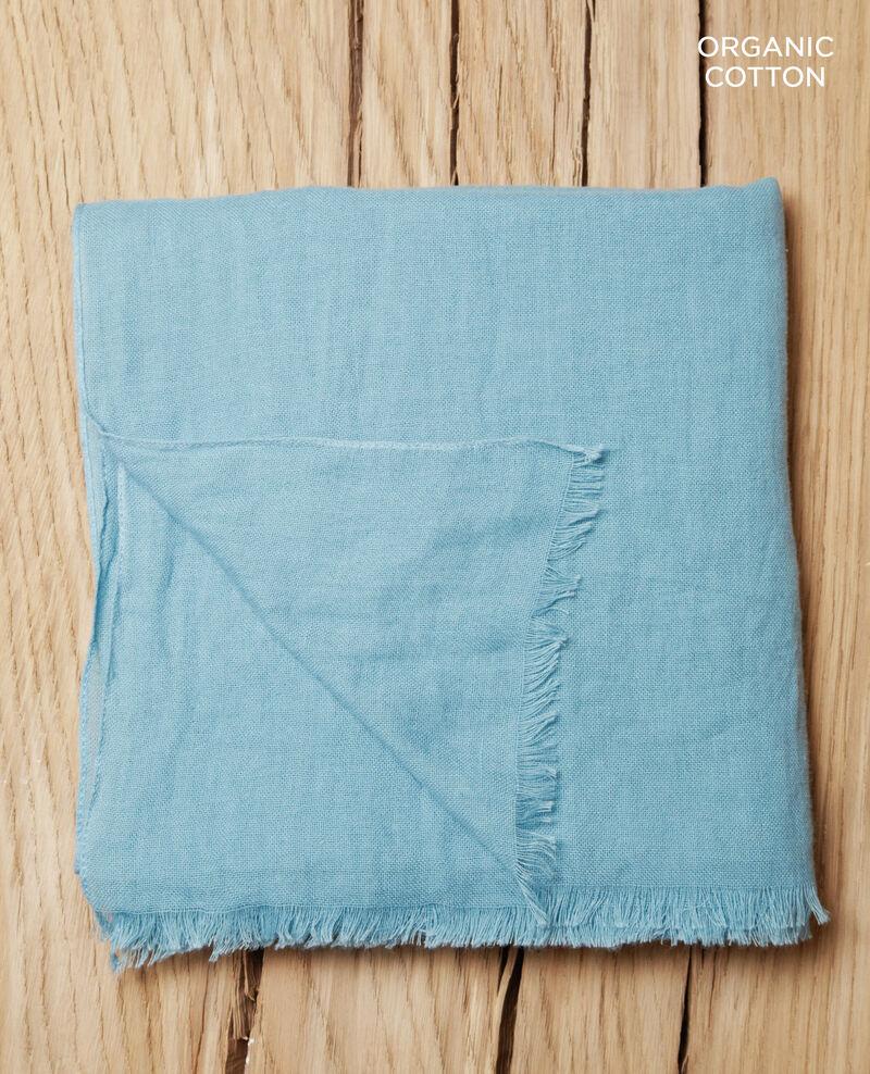 Cotton scarf Adriatic blue Geste