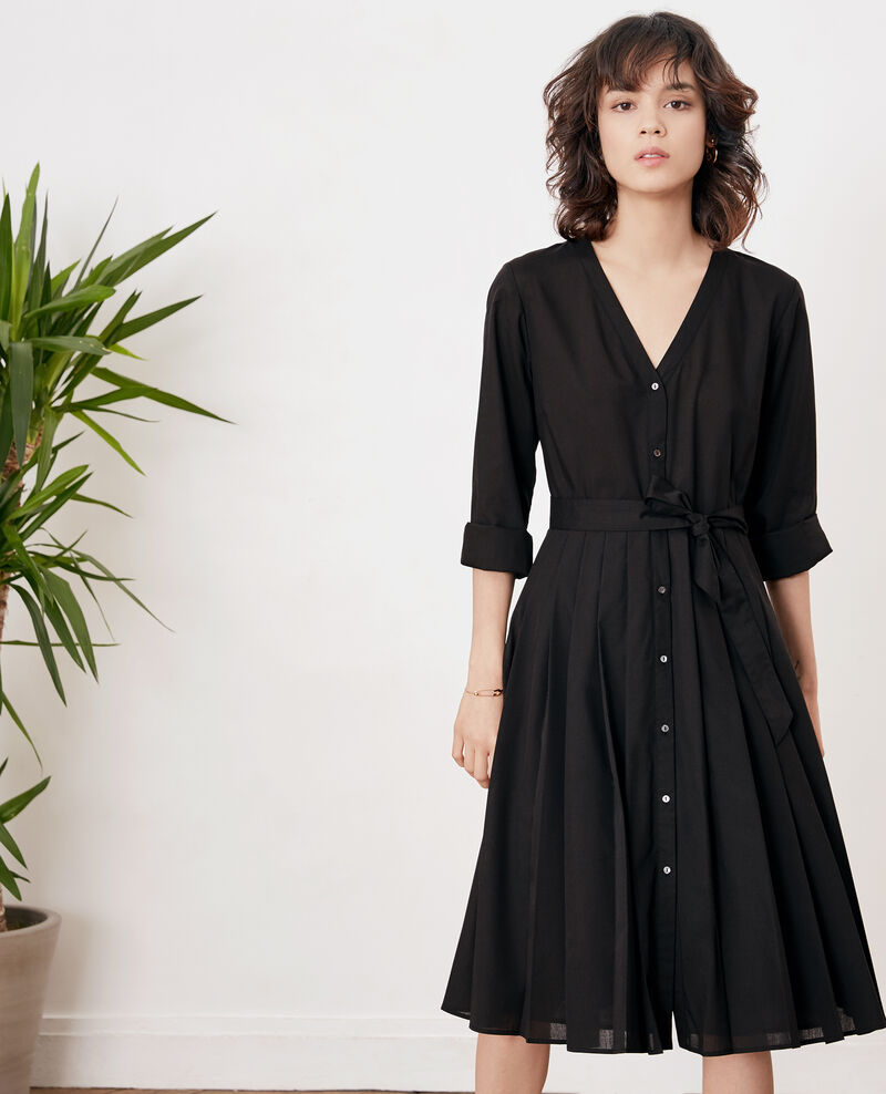 Dress with pleats NOIR
