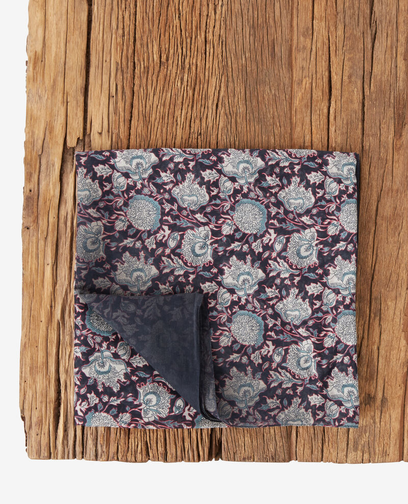 Printed scarf with silk DARJEELING BLACK