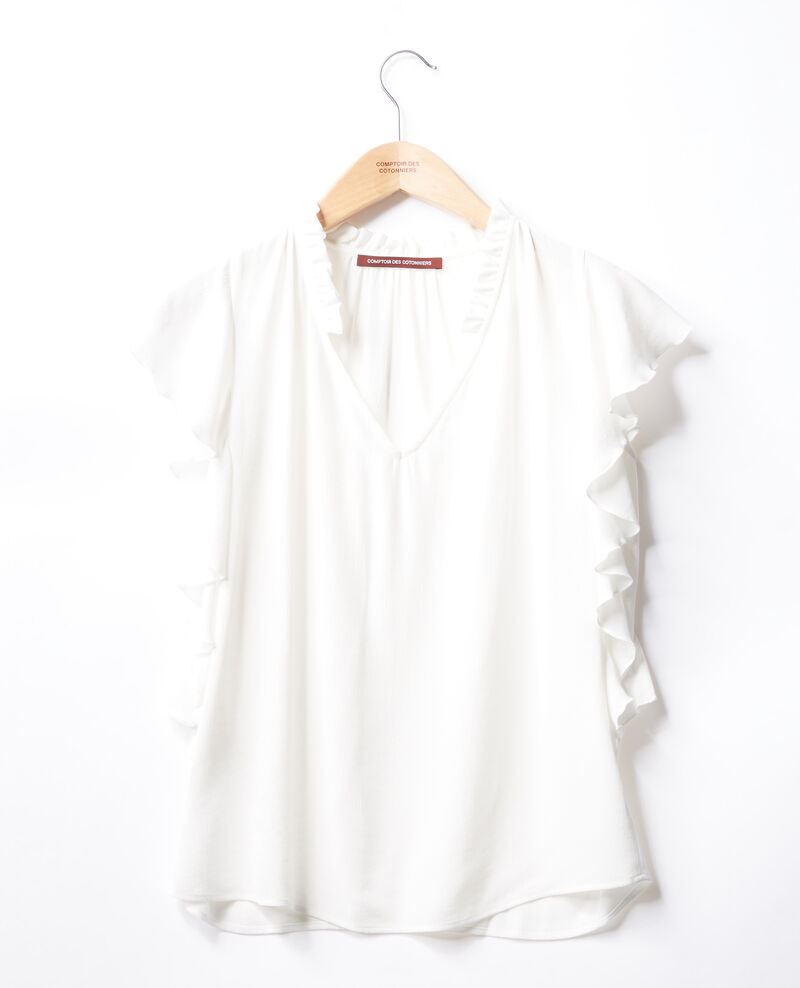 Frilly blouse Off white Fretillant