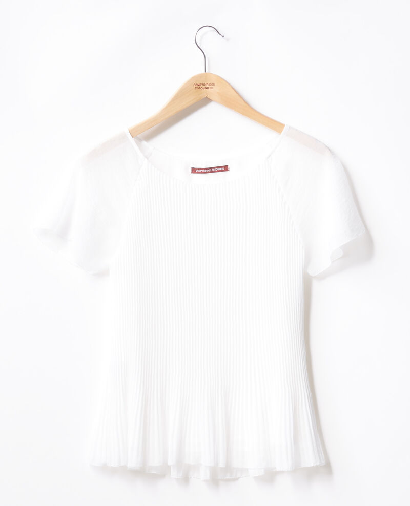 Pleated blouse Blanc Farouche