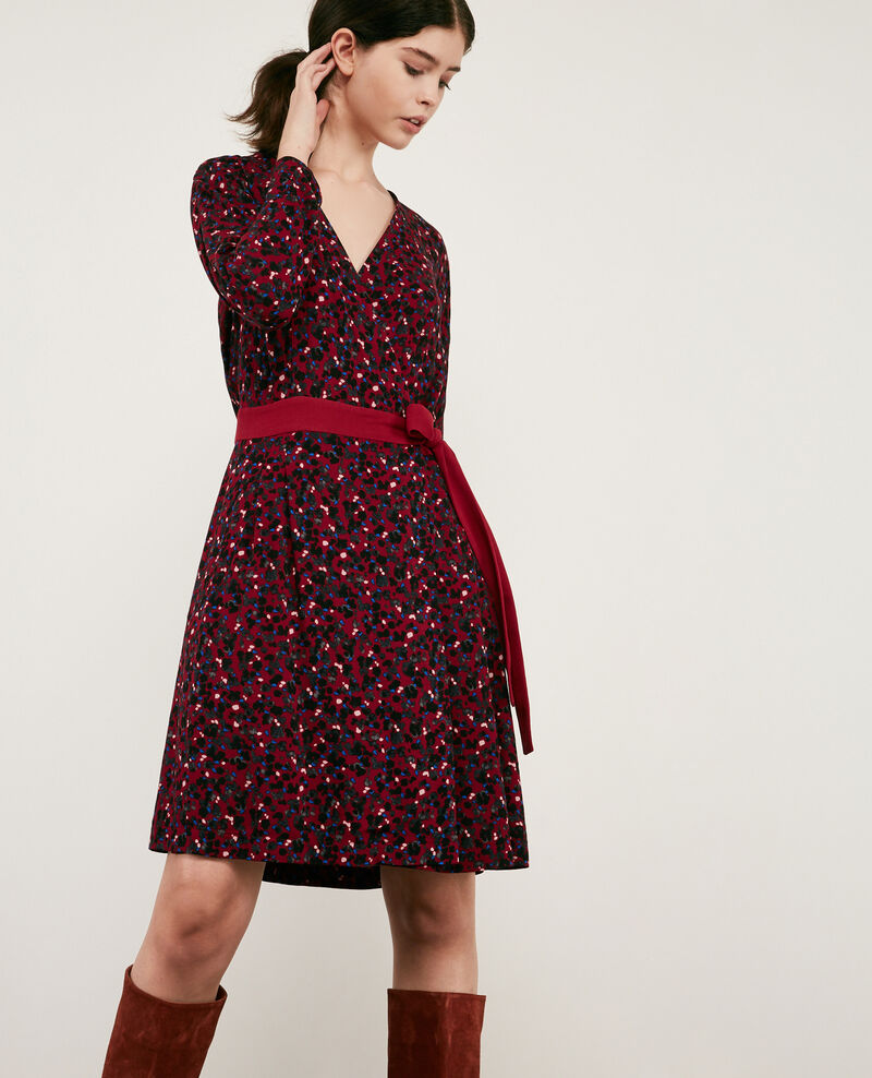 Printed wrap dress Wildcat devil 9darleville