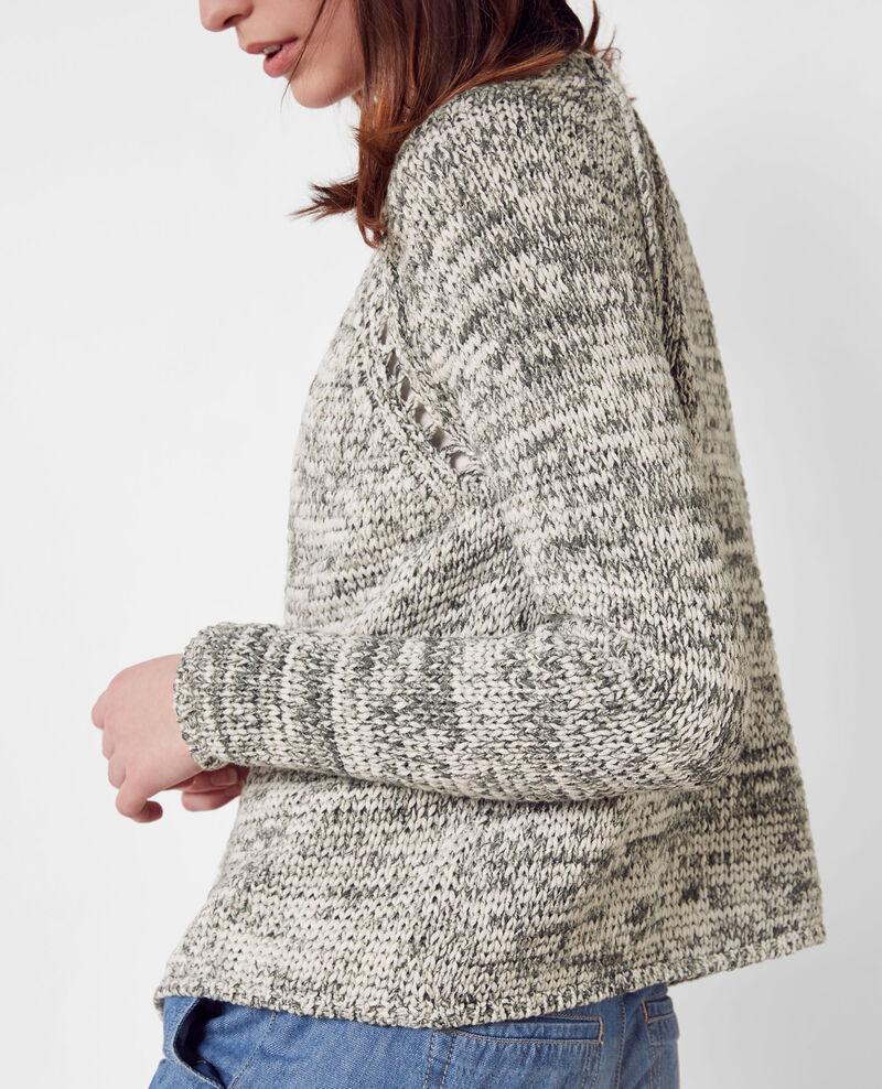 Marl-knit cardigan Army Cobeyn