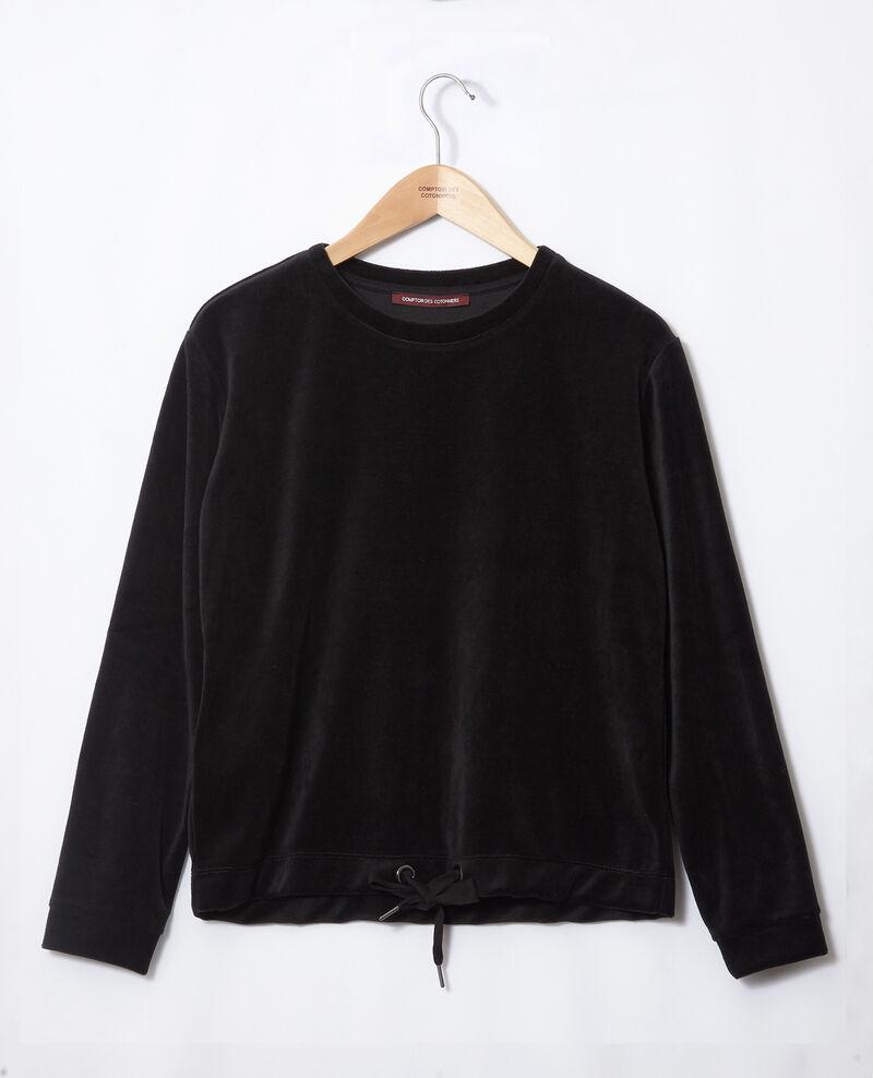 Velvet sweater Noir Gala