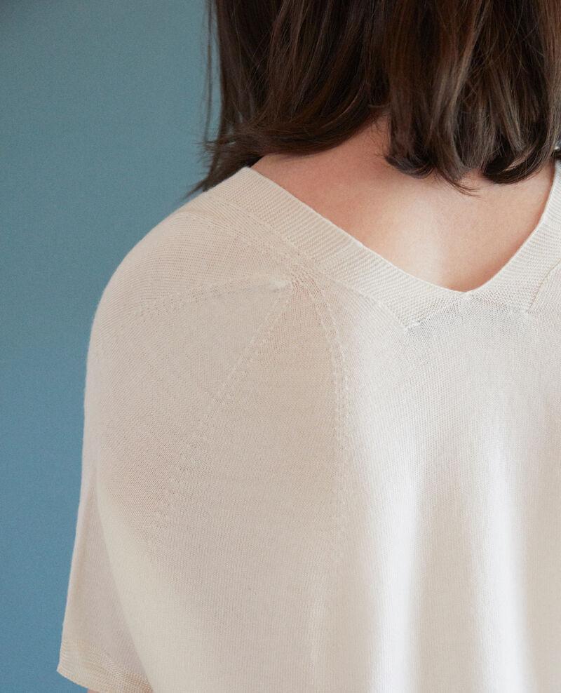 Zero-stitching short-sleeved knit Off white Gemilio