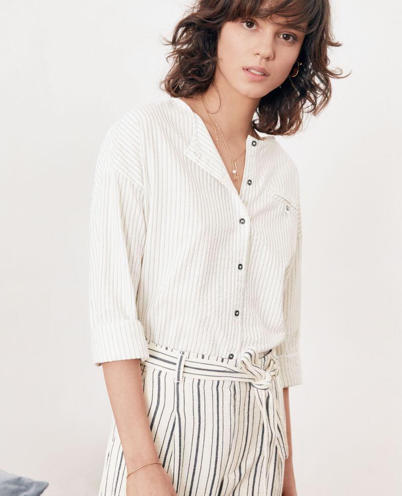 Striped shirt OFF WHITE/NAVY STRIPES