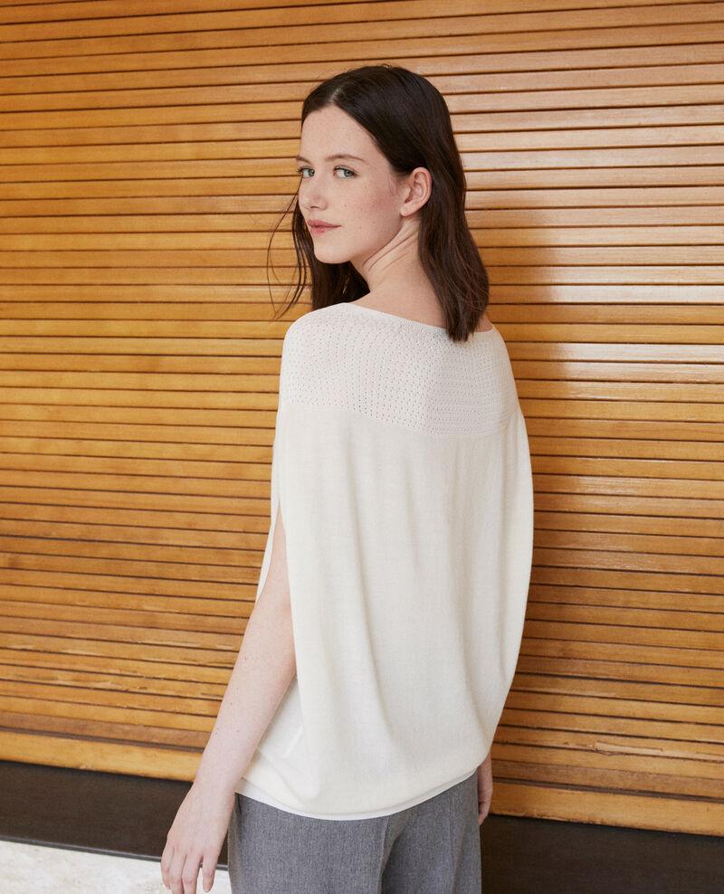 Bubble-shaped whole garment jumper Off white Gelsa