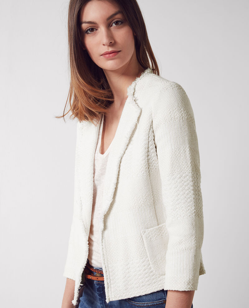Open tweed jacket Off white Chaton