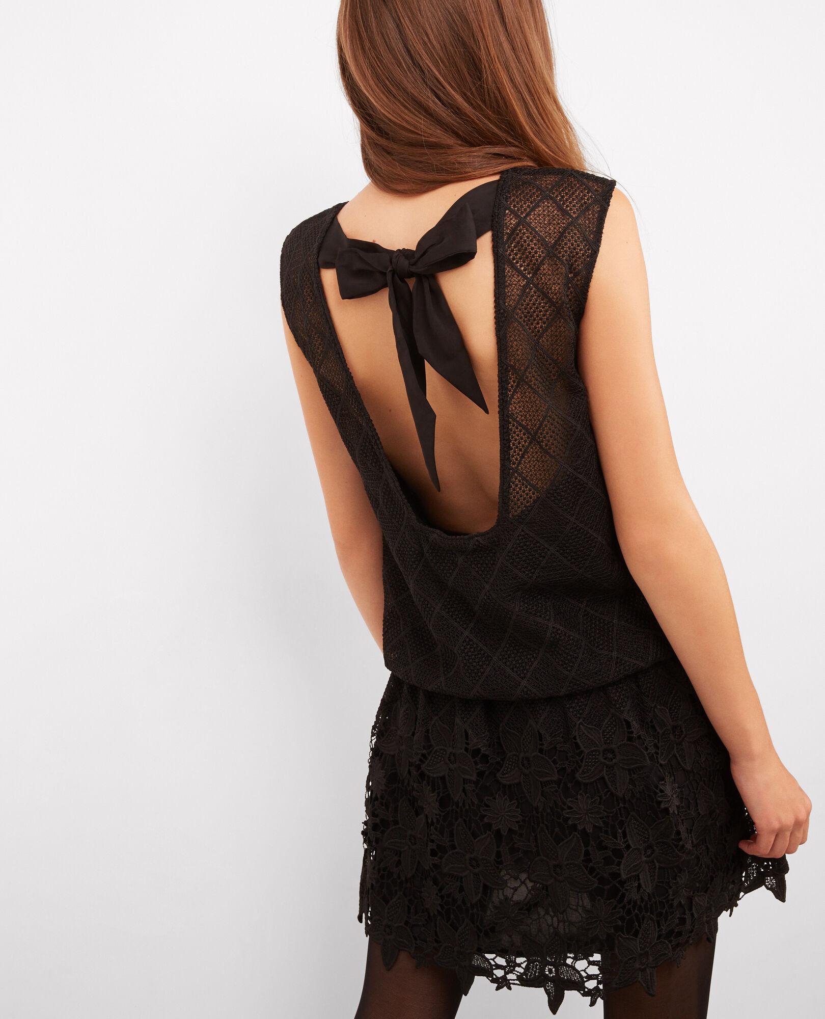 Robe bustier noire comptoir des cotonniers