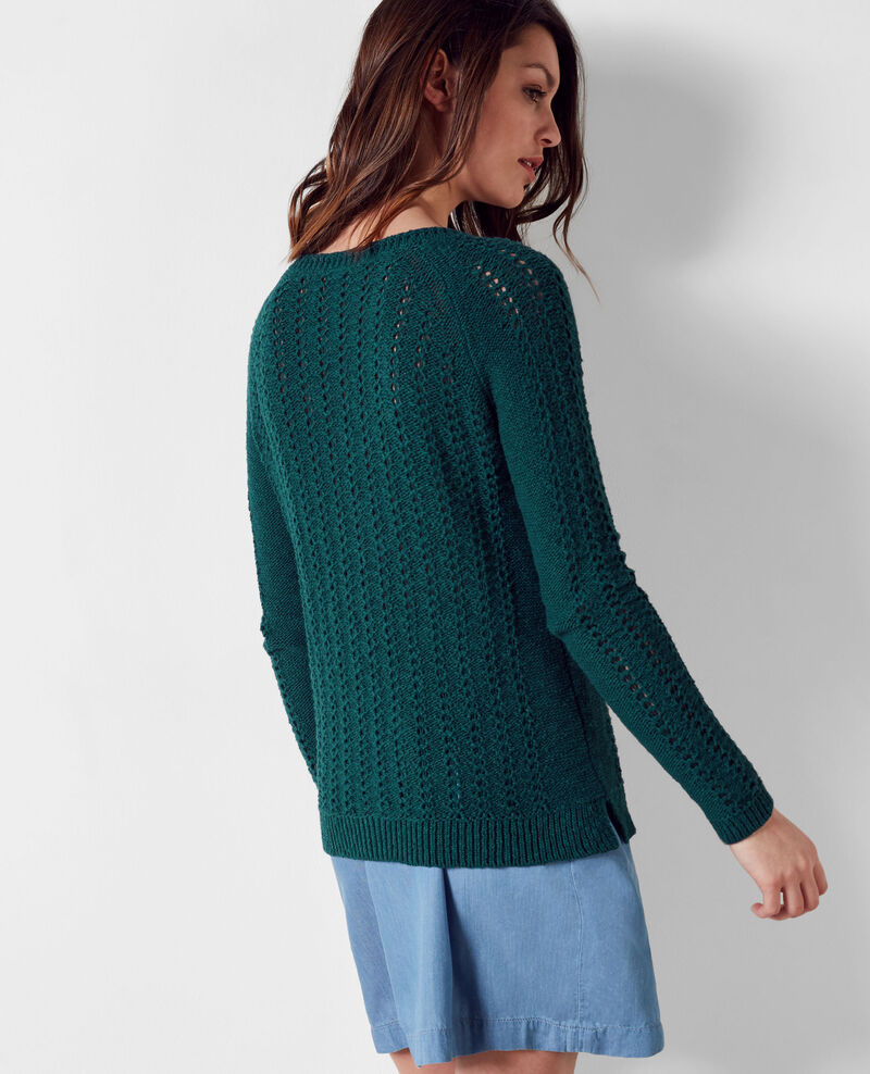 Openwork knit jumper Jungle Calamar
