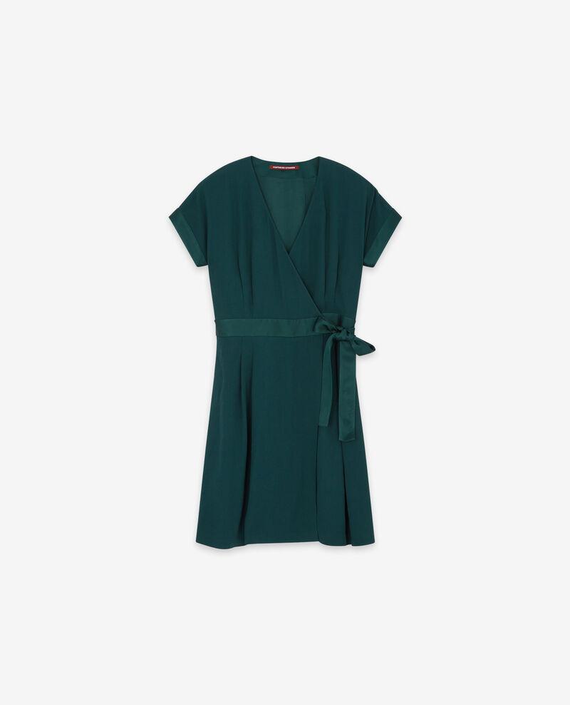 Wrapover dress Deep green Dannecha