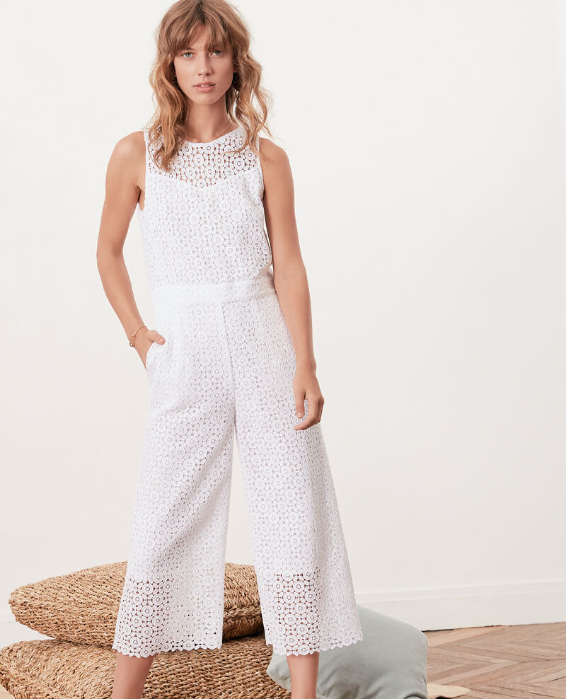 Broderie anglaise jumpsuit BLANC